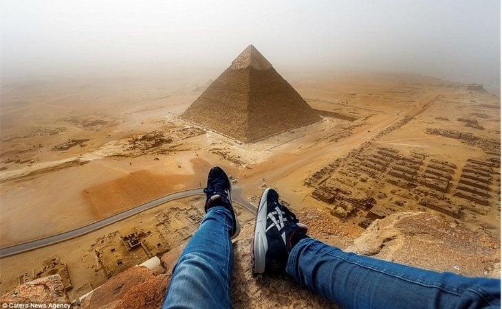 Una foto desde la cima realizada por otro 'trepador', Andrej Ciesielski