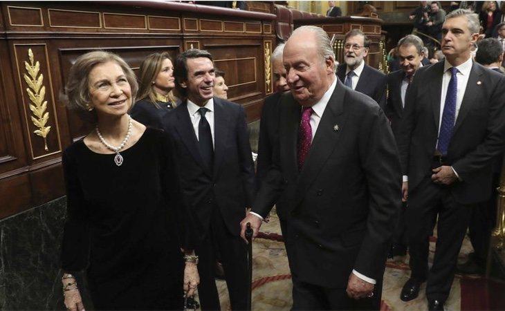 La reina Sofía, Jose María Aznar y Juan Carlos I el pasado Día de la Constitución