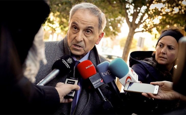 Carlos Bacaicoa a la salida del TSJN el pasado noviembre