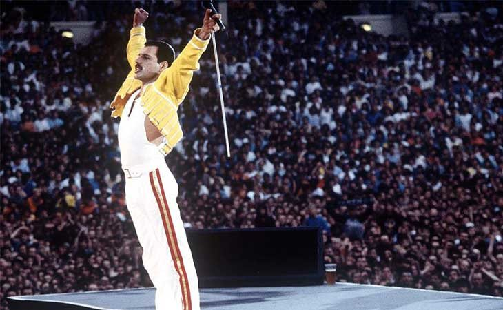 Freddie Mercury en Wembley 1986