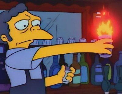 Adolescentes mexicanos recrean el 'Flameado de Moe' y acaban intoxicados en el hospital