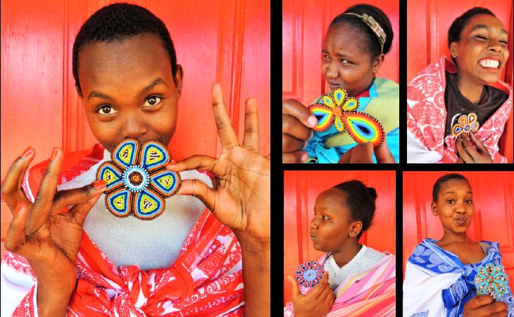 Mauas hechas por niñas que han escapado de la mutilación (Wanawake Mujer)