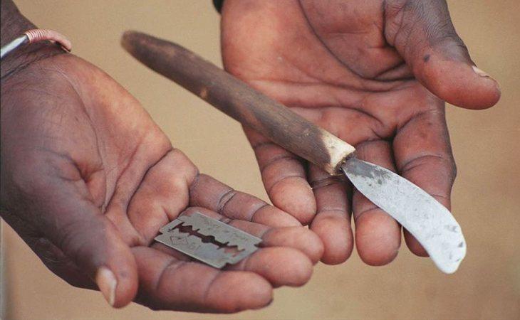 Un ejemplo de las cuchillas que utilizan para el corte