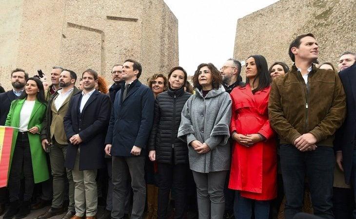 La derecha tuvo un papel protagonista en la manifestación celebrada en la madrileña plaza de Colón