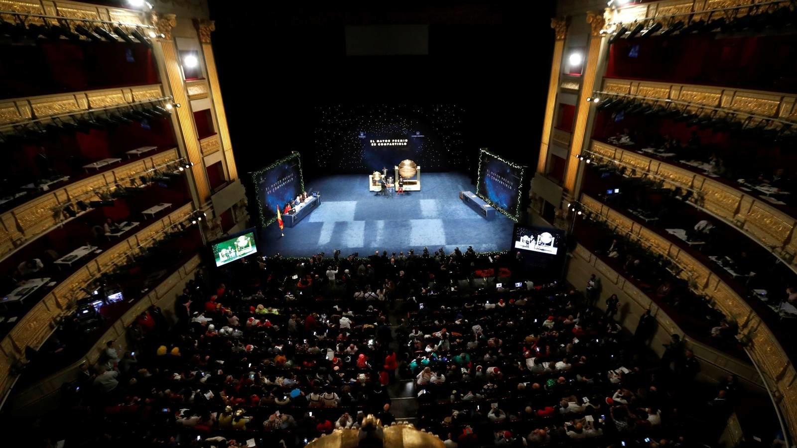 Imagen del Teatro Real de Madrid, donde se celevra cada año el sorteo de Navidad