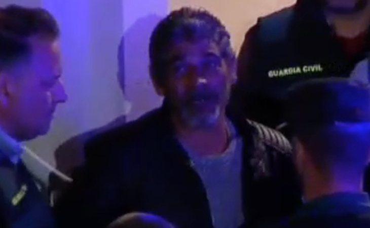 Bernardo Montoya durante su traslado a la prisión de Huelva