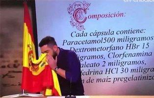 """Dani Mateo escribe """"España no existe"""" y se arma el belén"""