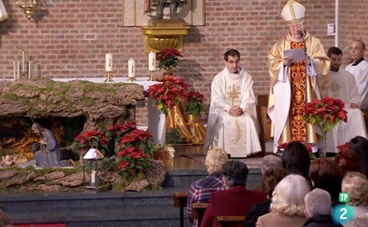 Reig Pla, durante la última misa del año emitida en La 2