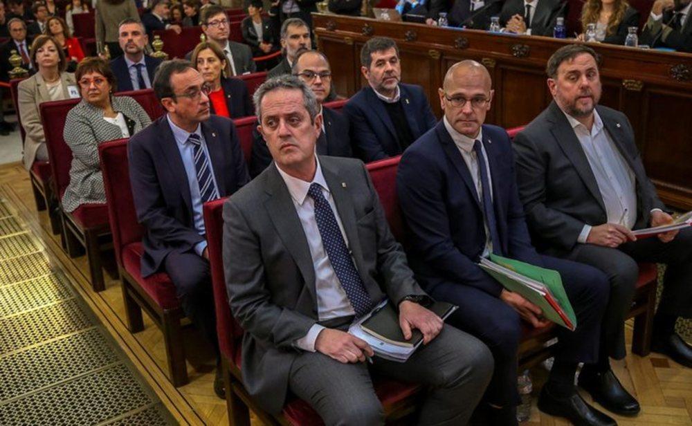 Líderes independentistas durante el juicio del procés