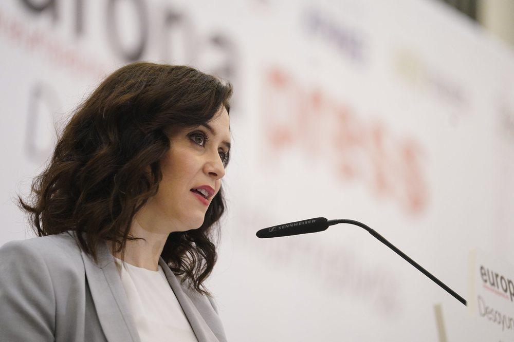 La presidenta de la Comunidad de Madrid, Isabel Díaz Ayuso, acusa a la oposición de