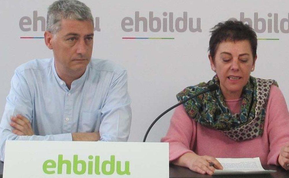 Oskar Matute y Mertxe Aizpurua, diputados de EH Bildu