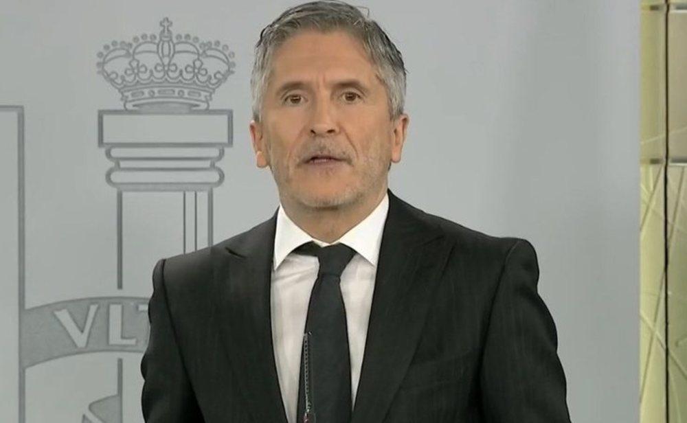 Fernando Grande-Marlaska en rueda de prensa