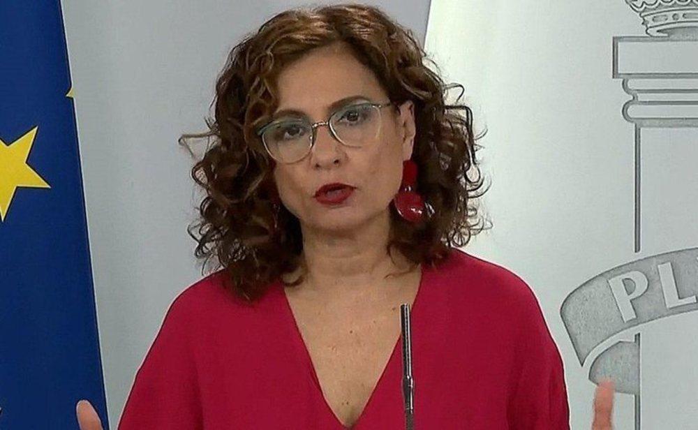 María Jesús Montero, en comparecencia ante los medios desde la Moncloa