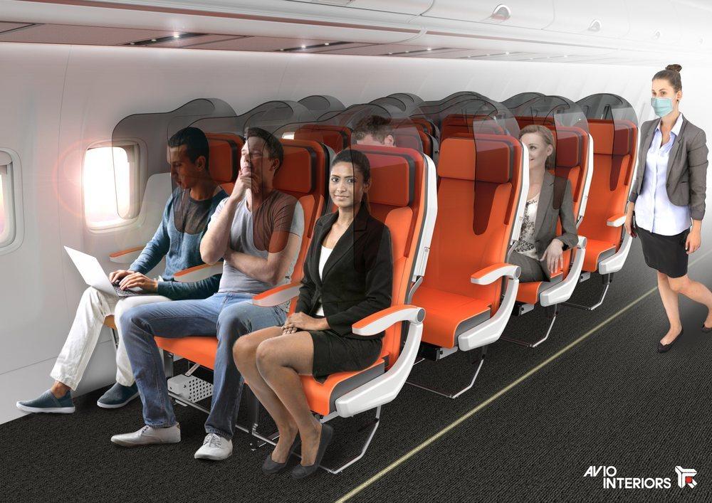 Mamparas de separación para cada asiento
