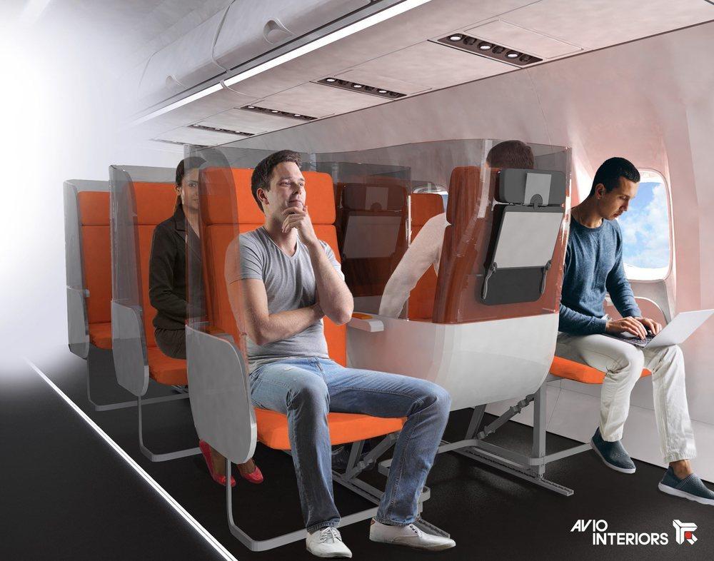 El asiento de en medio se da la vuelta en esta propuesta post-coronavirus