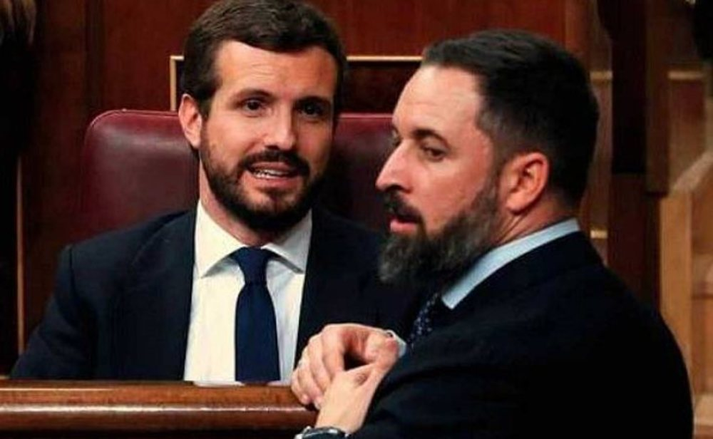 Pablo Casado y Santiago Abascal en el Congreso de los diputados