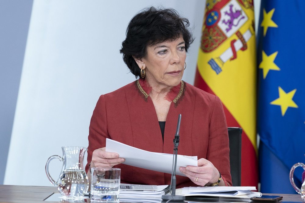 La ministra de Educación, Isabel Celaá