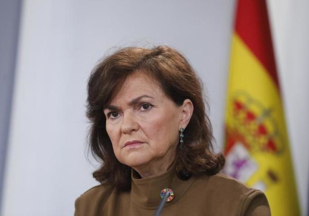 Carmen Calvo ha dado positivo en el test del coronavirus