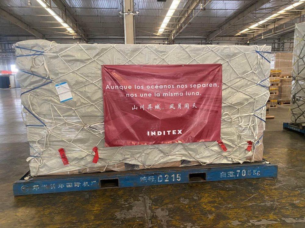 El cargamento está preparado para su embarcación y llegará a España, previsiblemente, el próximo lunes