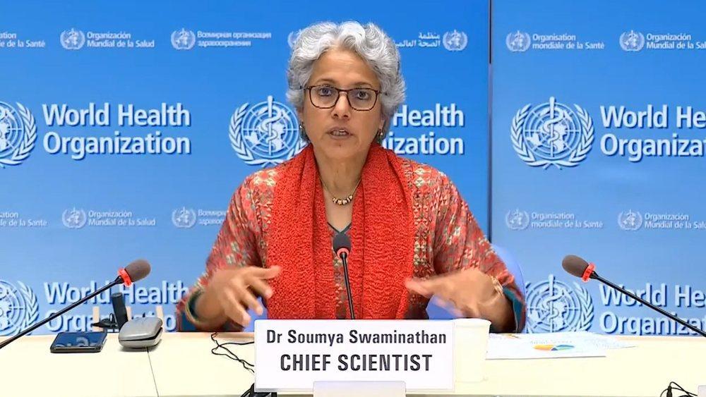 Soumya Swaminathan, jefa del equipo científico de la OMS, descarta una vacunación masiva antes de 2022