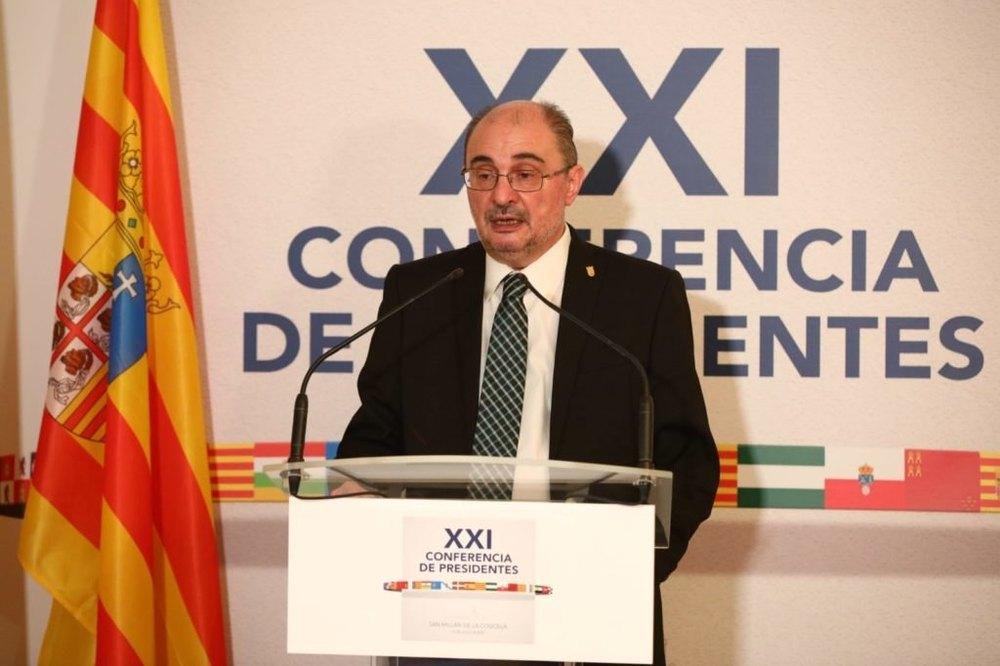 El presidente de Aragón, Javier Lambán