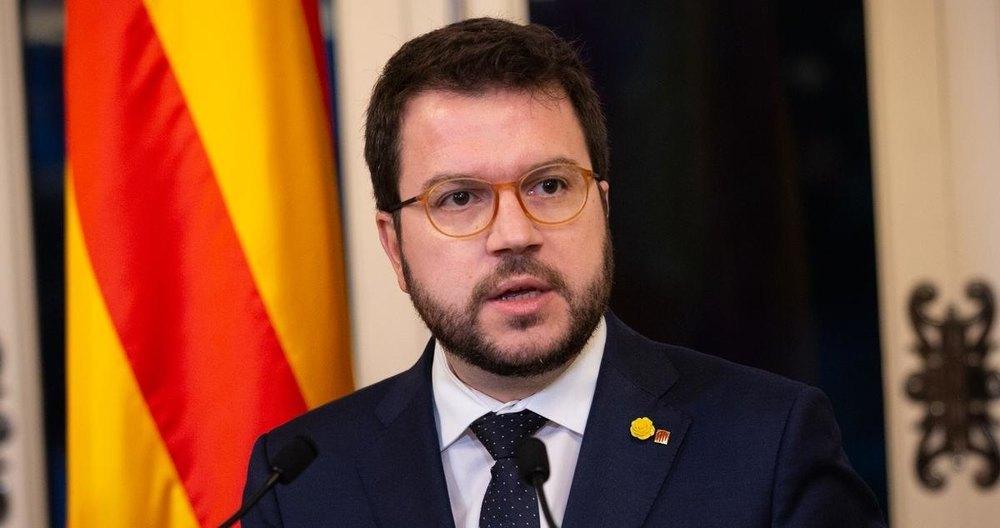 El vicepresidente catalán, Pere Aragonès