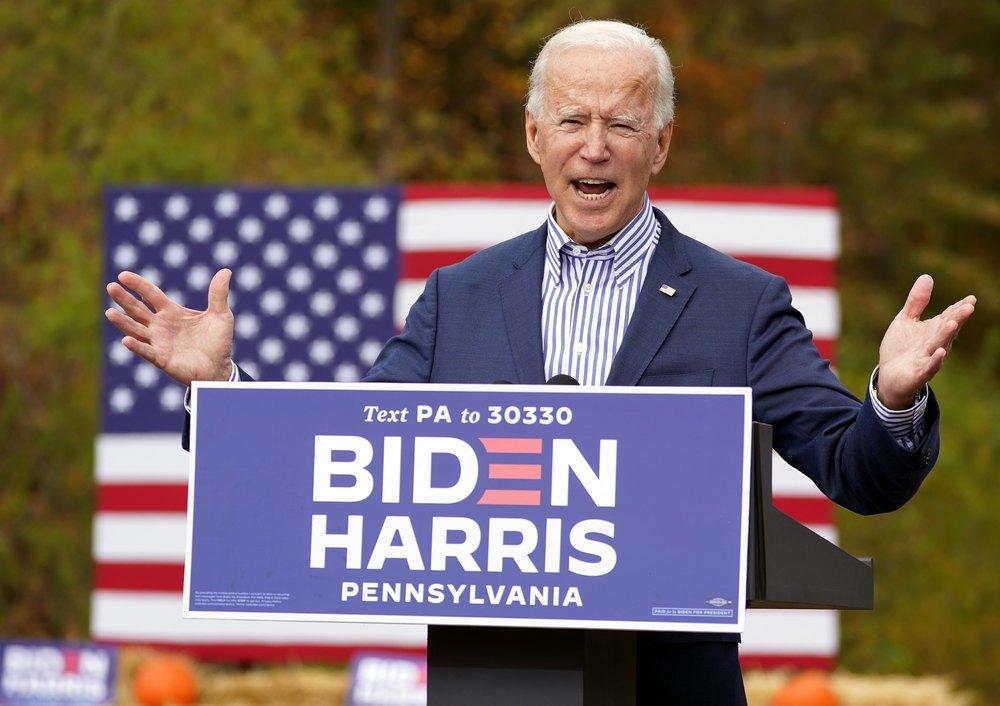 Joe Biden en un acto de campaña en Pennsylvania