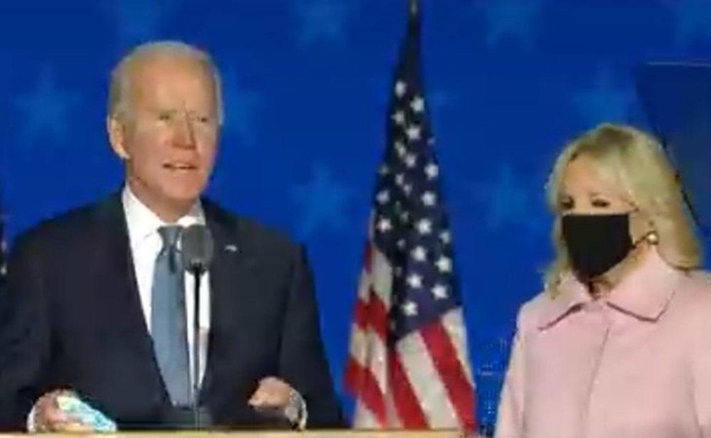 Joe Biden, durante su comparecencia