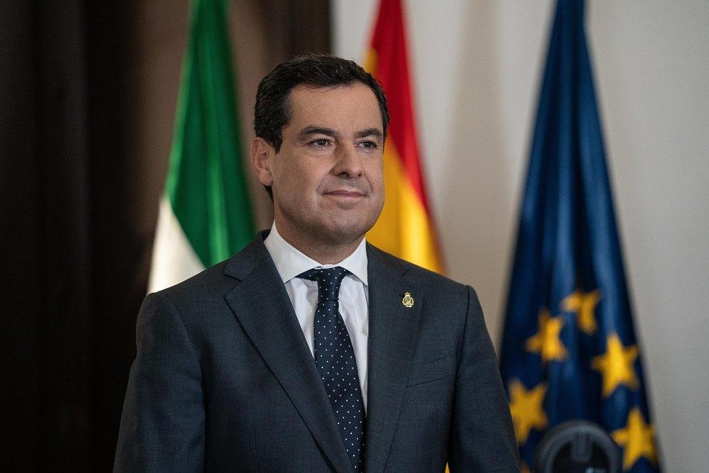 El presidente andaluz, Juan Manuel Moreno