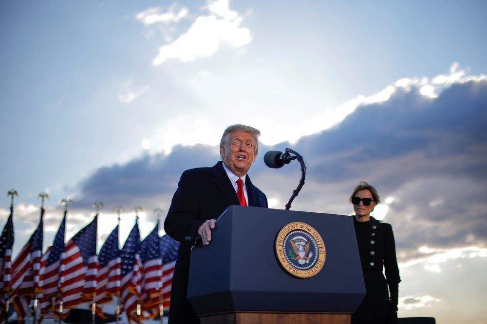 Donald Trump, durante su intenvención