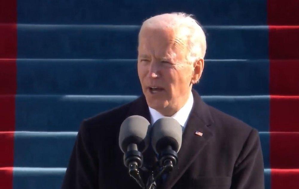 Joe Biden, durante su discurso de investidura