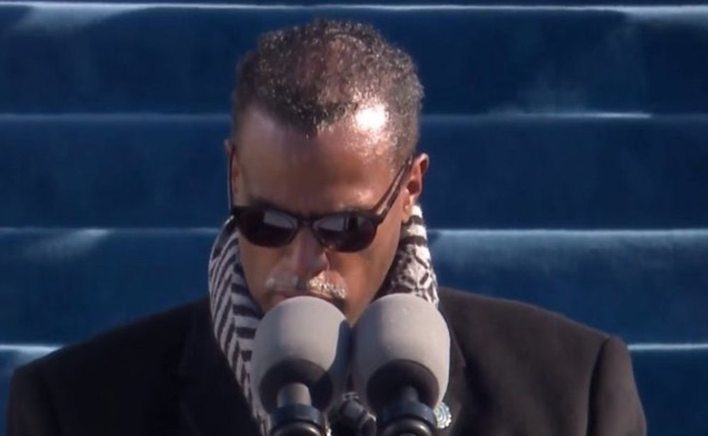 El reverendo Sylvester Beaman, durante su intervención