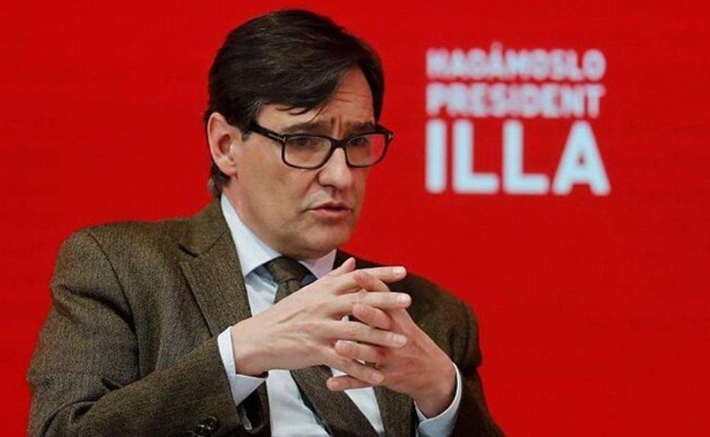 Salvador Illa, exministro de Sanidad y candidato del PSC en las elecciones de Cataluña