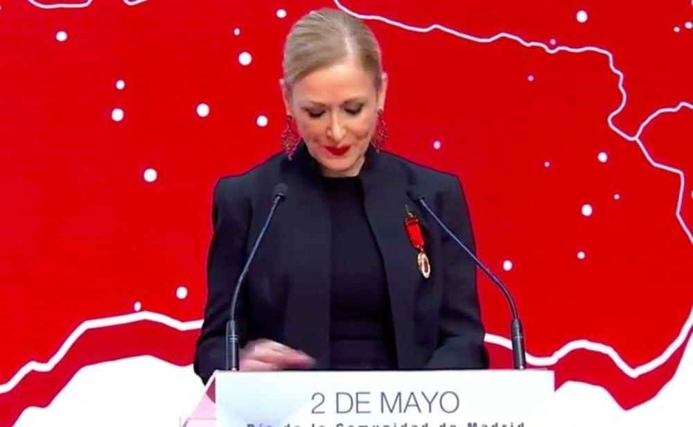 Cristina Cifuentes, durante su discurso