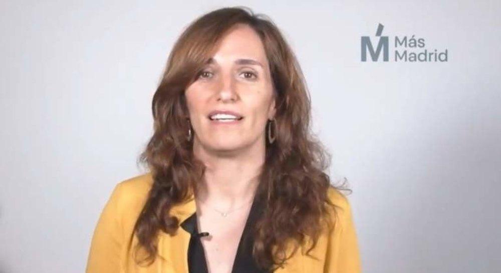 La candidata de Más Madrid, Mónica García