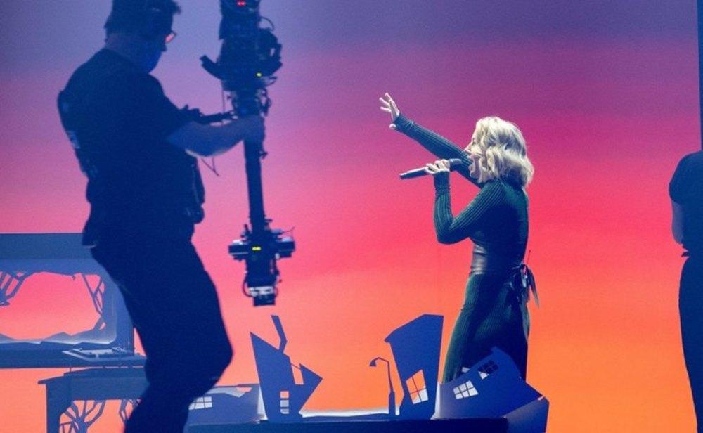 Lesley Roy, representante de Irlanda en Eurovisión 2021, durante el primer ensayo en Róterdam | Andres Putting/UER