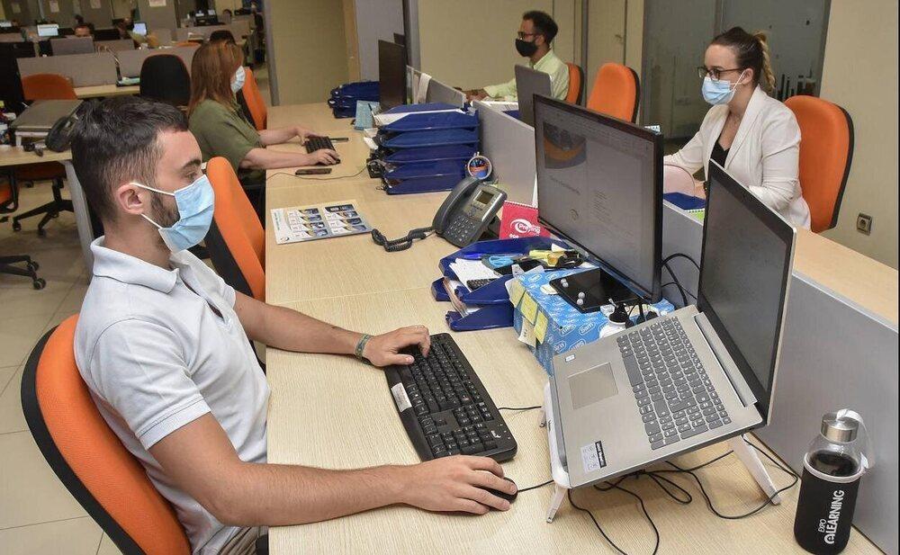 Se permitirá no usar mascarilla en el puesto de trabajo