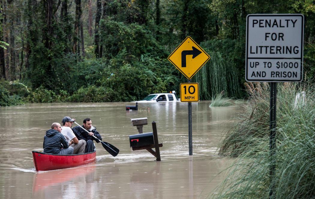 Las peores inundaciones en 1.000 años