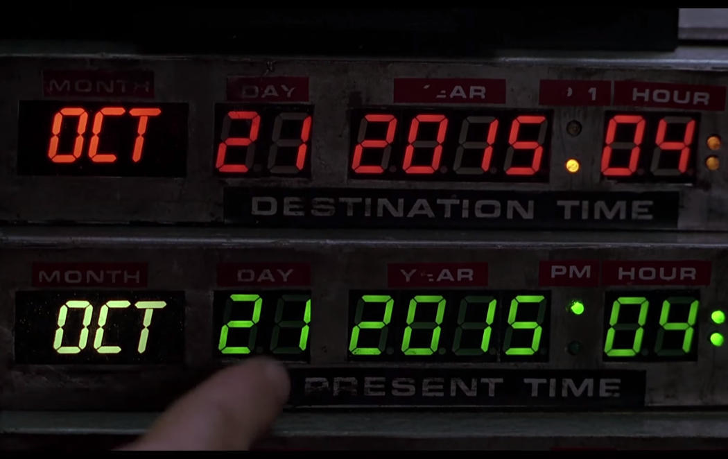 Llevamos 26 años esperándote, Marty McFly #TheFutureIsNow