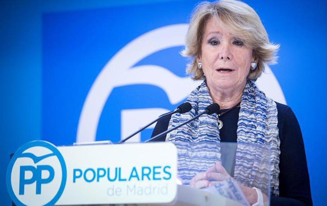 Esperanza Aguirre dimite como Presidenta del PP de Madrid