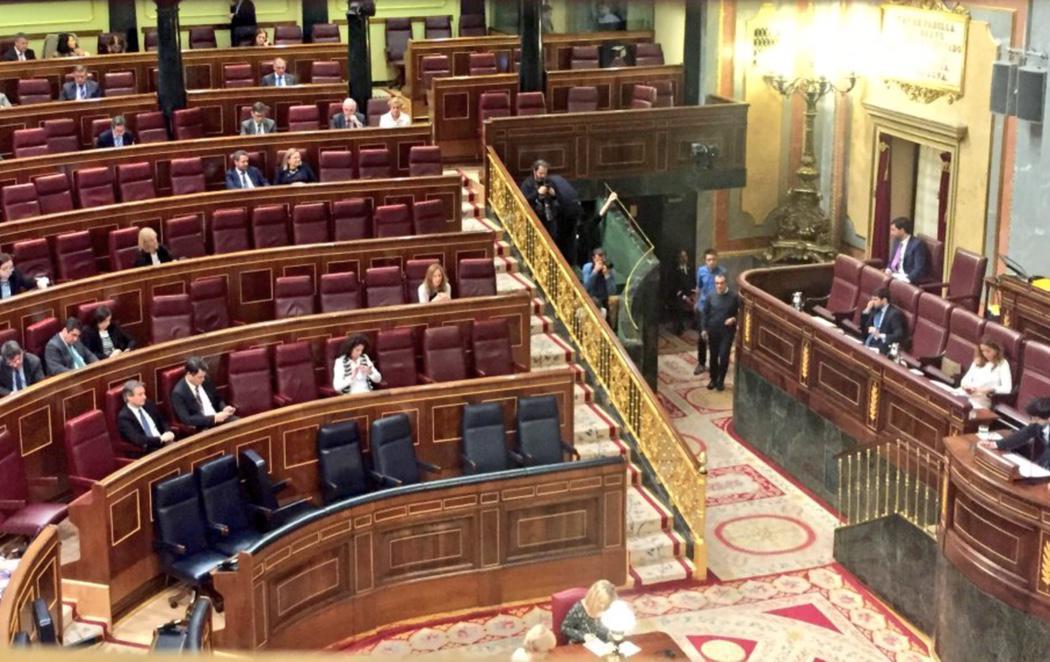 El gobierno en funciones se ausenta mientras se debaten las pensiones