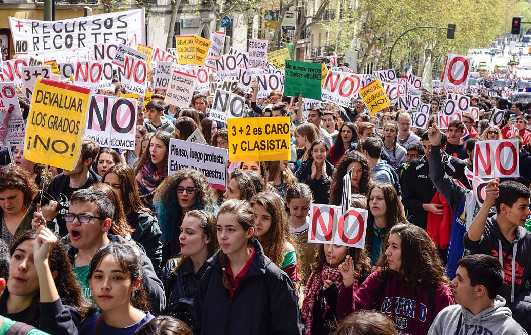 Los estudiantes dicen No a la Lomce y al 3+2