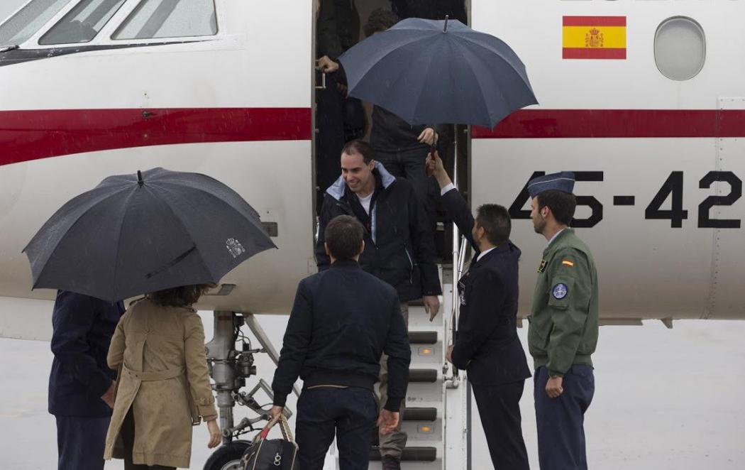 Vuelven a España los tres periodistas secuestrados en Siria