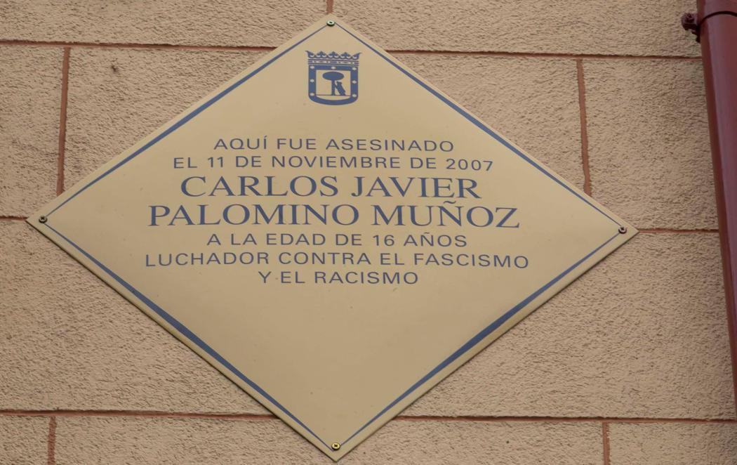 Madrid guarda en su memoria al joven asesinado en 2007 Carlos Palomino