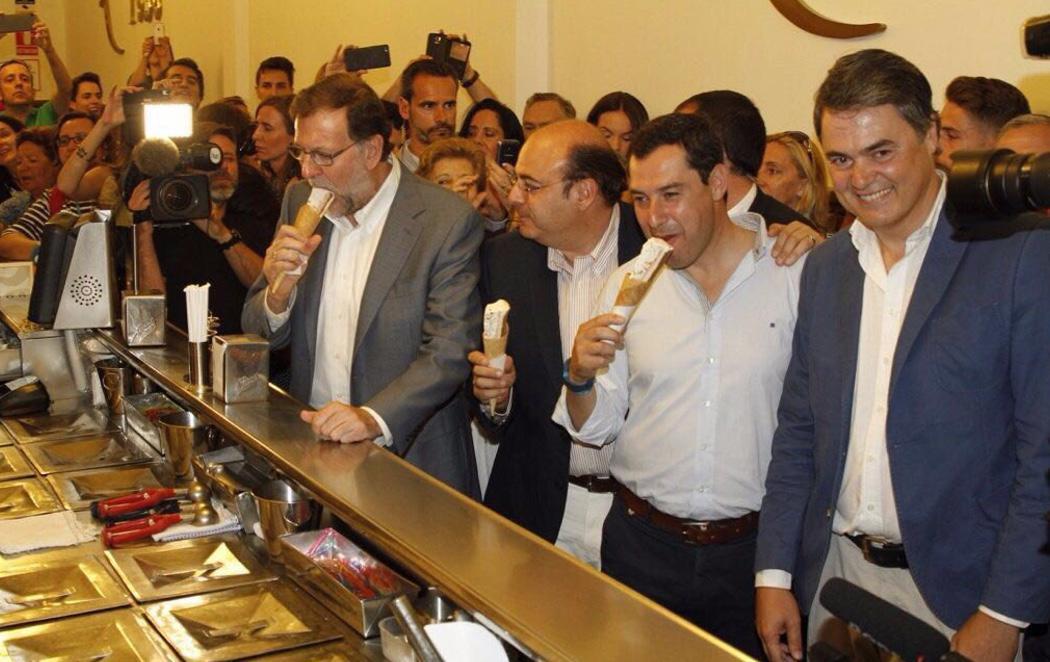 El desafortunado helado de Rajoy