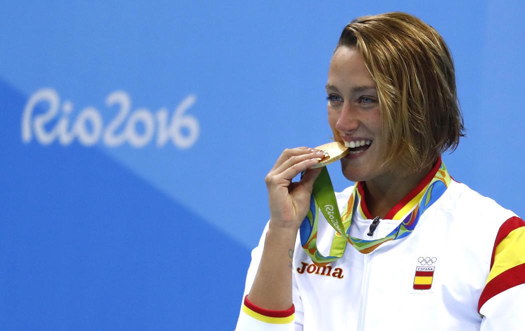 Mireia Belmonte gana su primer oro olímpico en Río 2016
