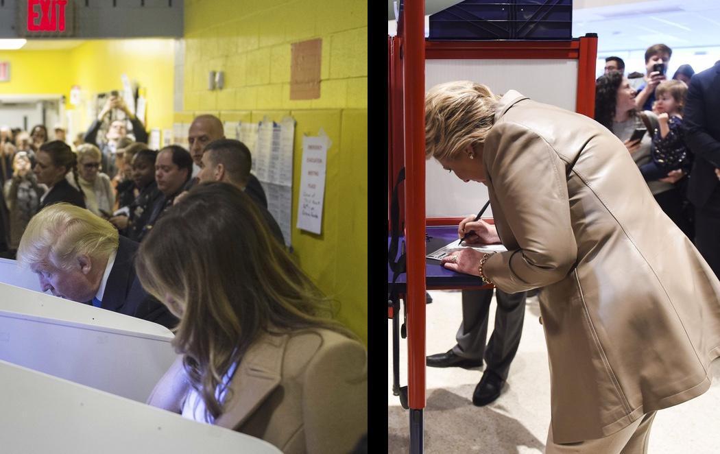 Así han votado los dos candidatos a La Casa Blanca