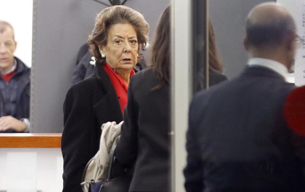 Rita Barberá niega rotundamente que hubiera una caja B en el PP valenciano