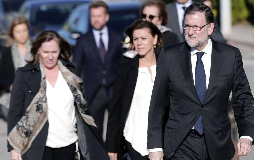 Mariano Rajoy llega al tanatorio para mostrar sus condolencias por la muerte de Rita Barberá