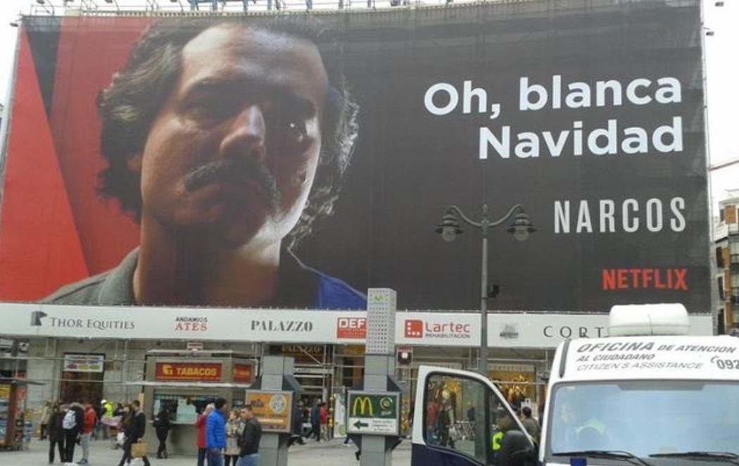La publicidad navideña de Netflix en la Puerta del Sol levanta ampollas